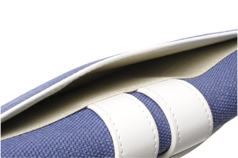 Petite Maroquinerie Tila March Zelig Canvas Long Wallet Bleu vue gauche