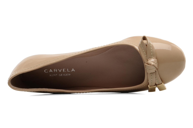 Ballet pumps Carvela LINDSEY Beige view from the left