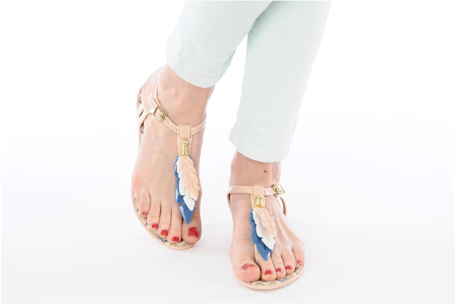 Sandals Melissa Melissa Lua III Sp Ad Beige view from underneath / model view