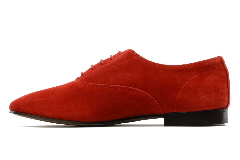 Scarpe con lacci Base London Sax Rosso immagine frontale