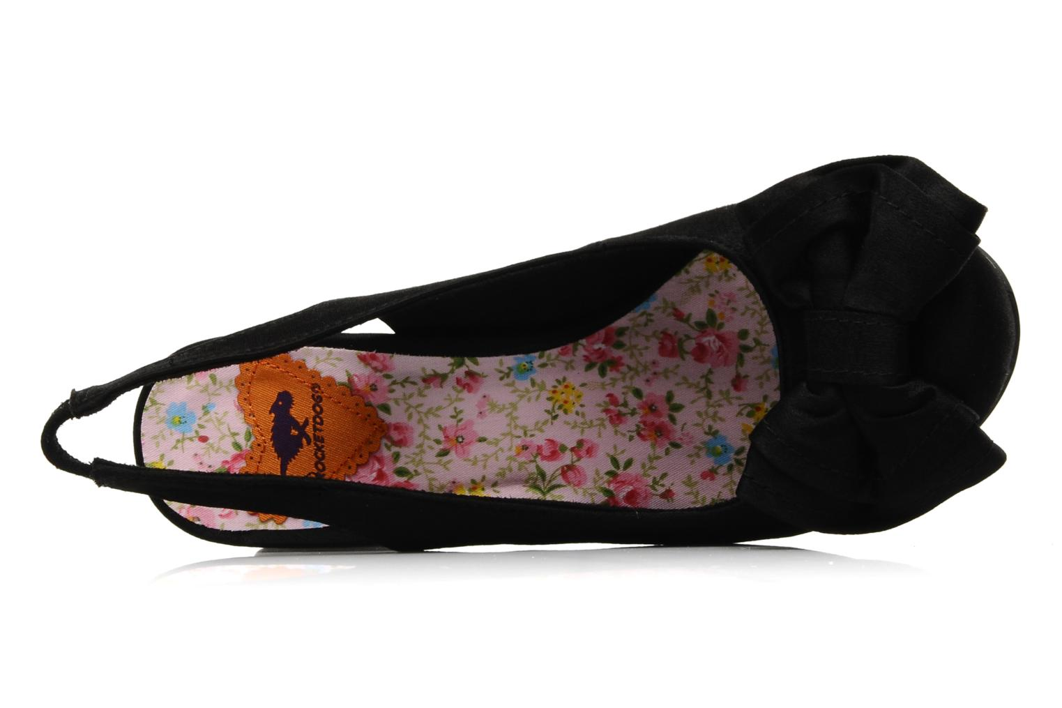 High heels Rocket Dog Ohno Satin Black view from the left