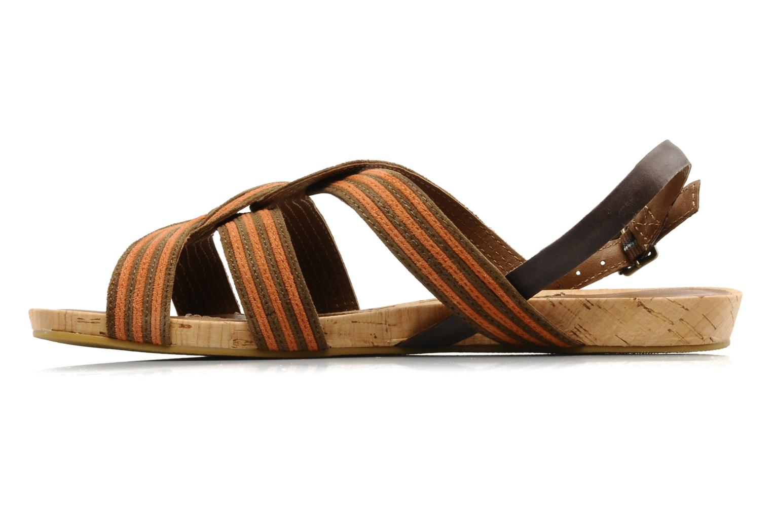 Sandals Marc O'Polo Chouquette Brown front view