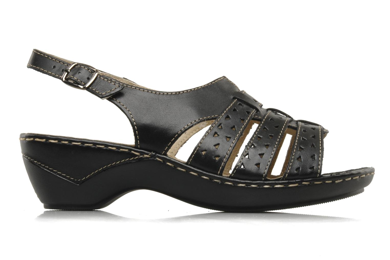 Sandals Caprice Vegati Black back view