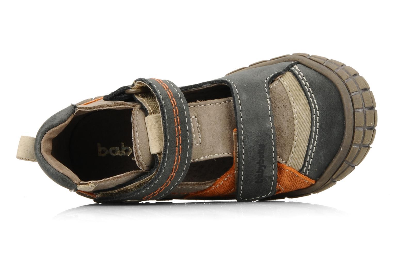 Chaussures à scratch Babybotte Stanislas Marron vue gauche