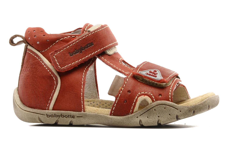 Sandalen Babybotte Tedi rot ansicht von hinten