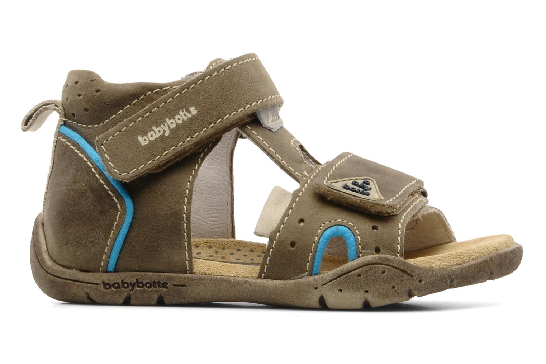 Sandales et nu-pieds Babybotte Tedi Marron vue derrière