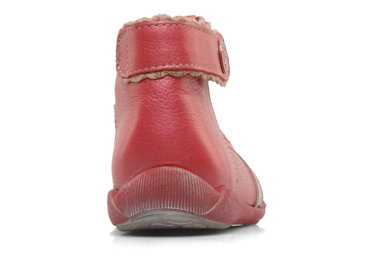 Bottines d'été Babybotte Sibel Rouge vue droite