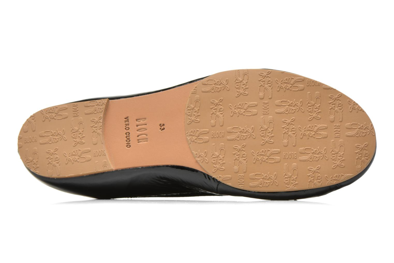 Ballet pumps Bloch Girls Chacha Black view from above