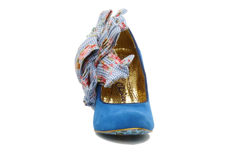Escarpins Irregular Choice BURGER N FRIES Bleu vue portées chaussures