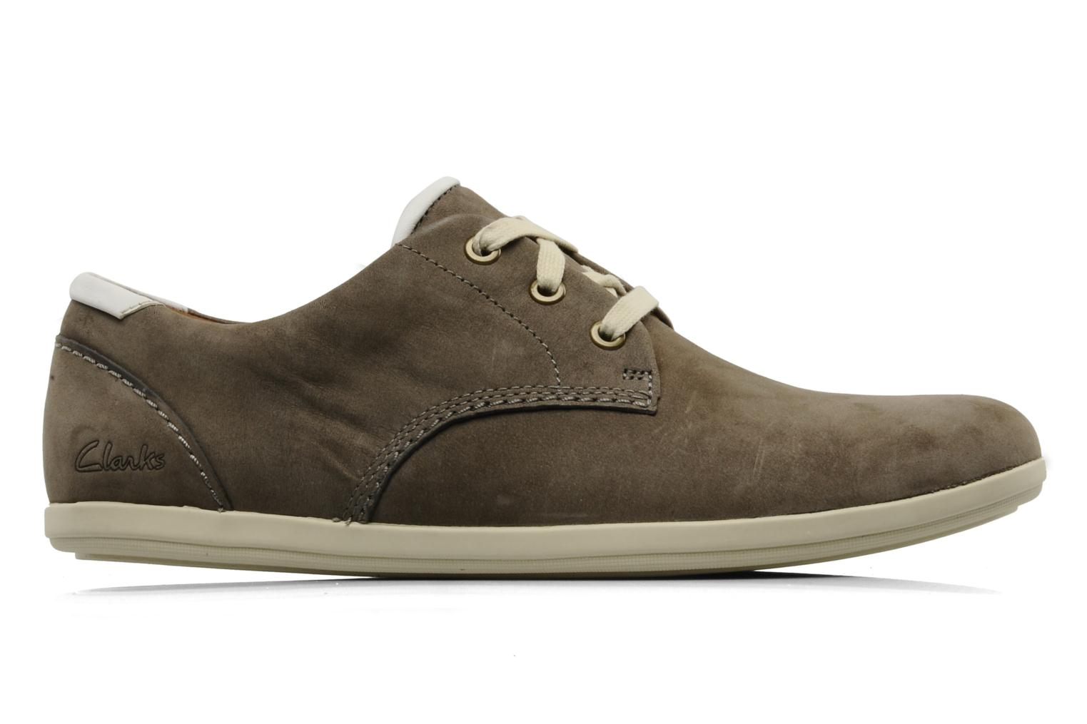 Lace-up shoes Clarks Mask Flow Grey back view
