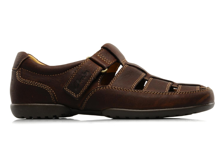 Sandales et nu-pieds Clarks Recline Open Marron vue derrière