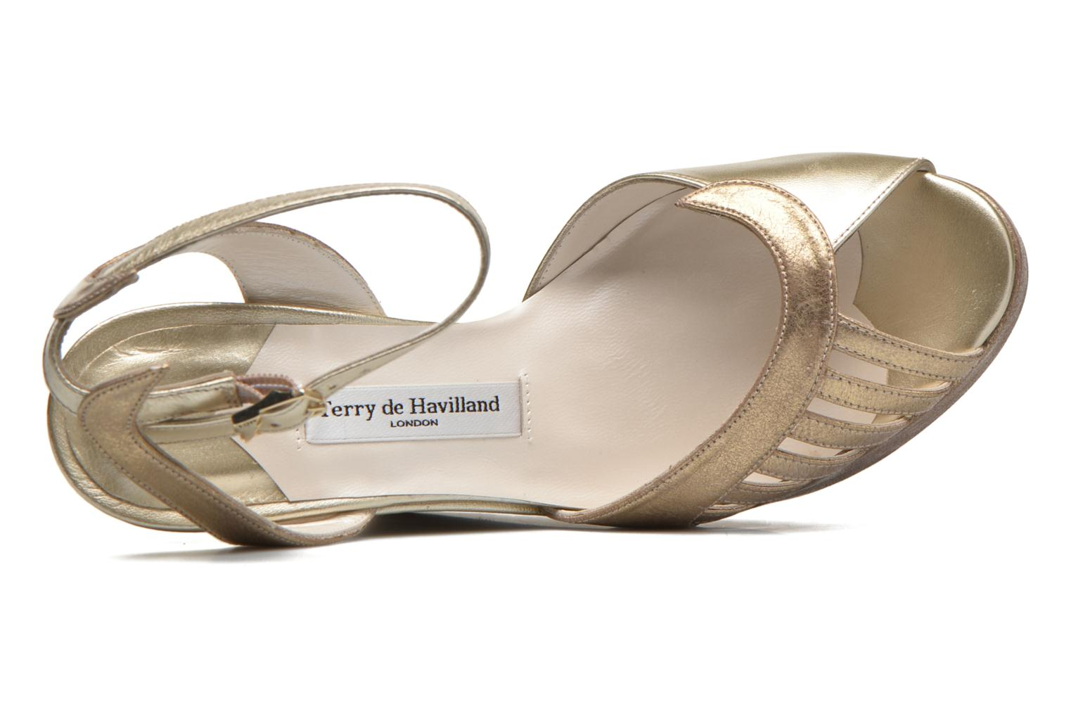 Sandalen Terry de Havilland Margaux gold/bronze ansicht von links