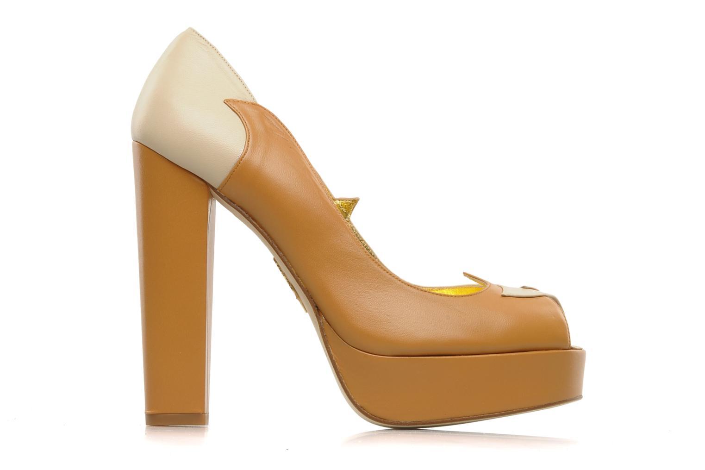 Zapatos de tacón Terry de Havilland Carina Beige vistra trasera