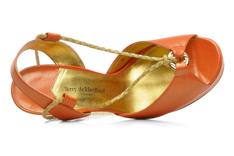 Sandalen Terry de Havilland Lisette orange ansicht von links