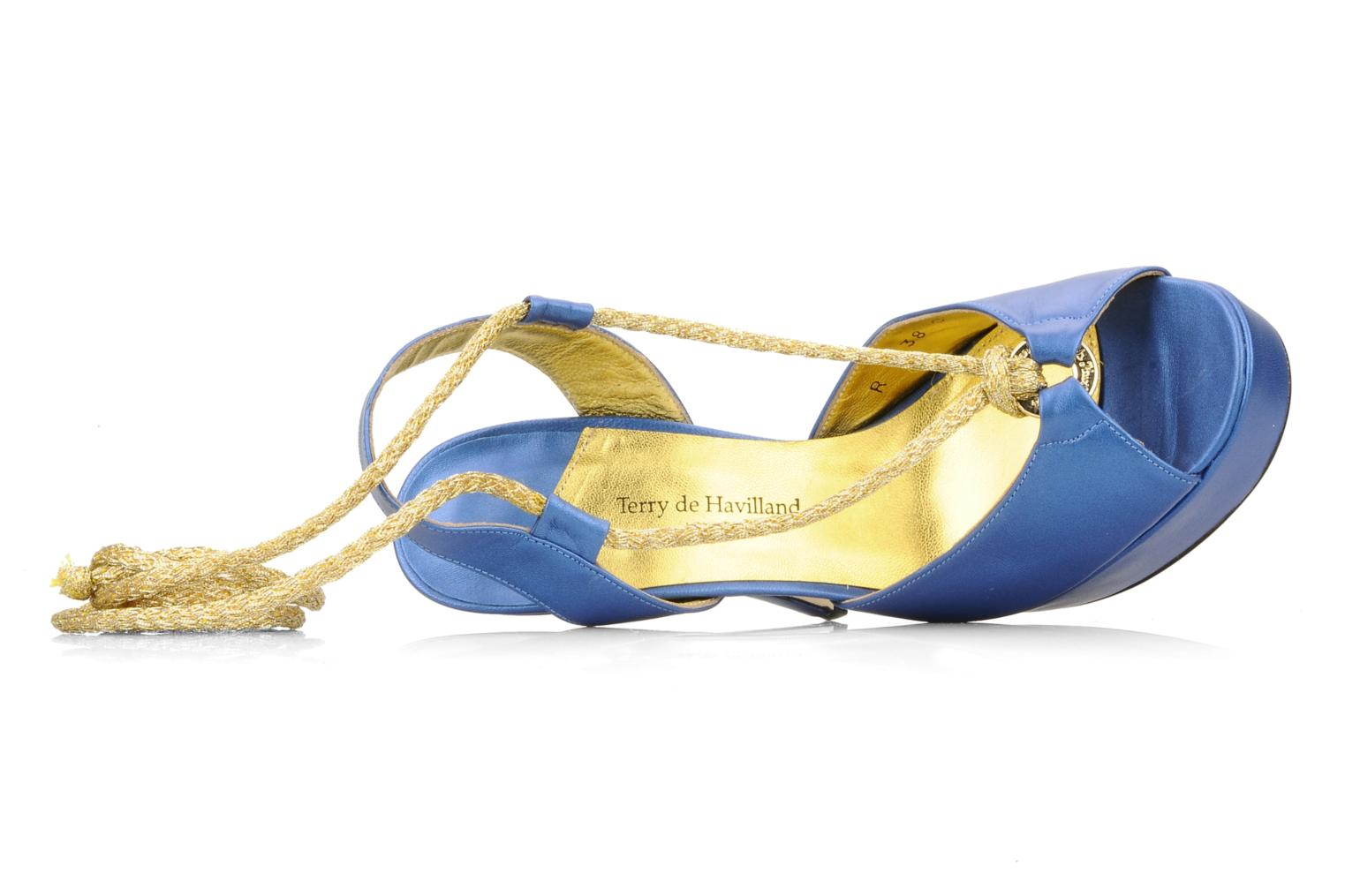 Sandalen Terry de Havilland Lisette blau ansicht von links