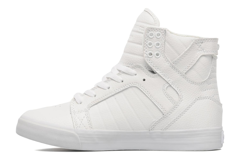 Baskets Supra Skytop Blanc vue face