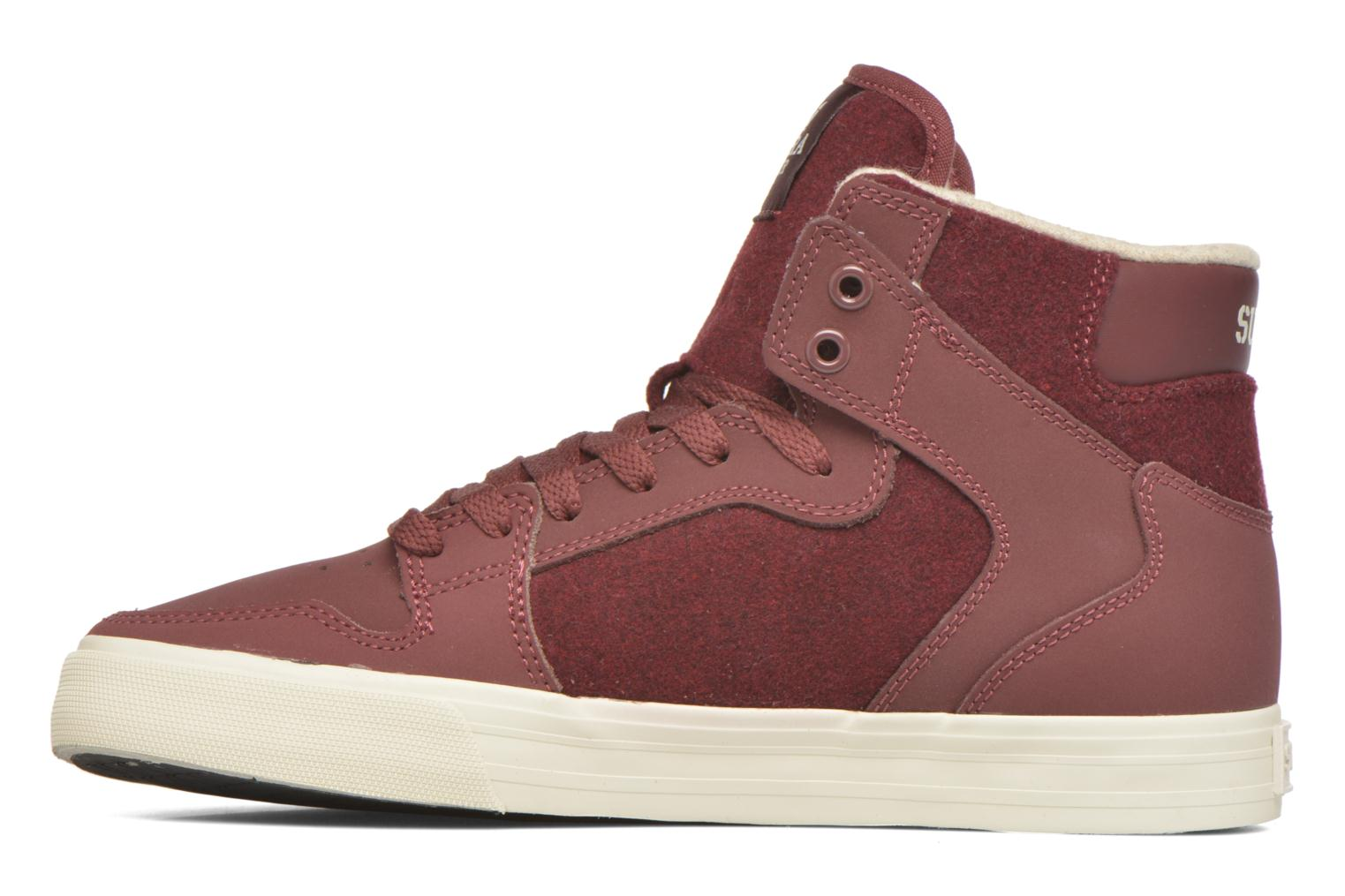 Trainers Supra Vaider Burgundy front view