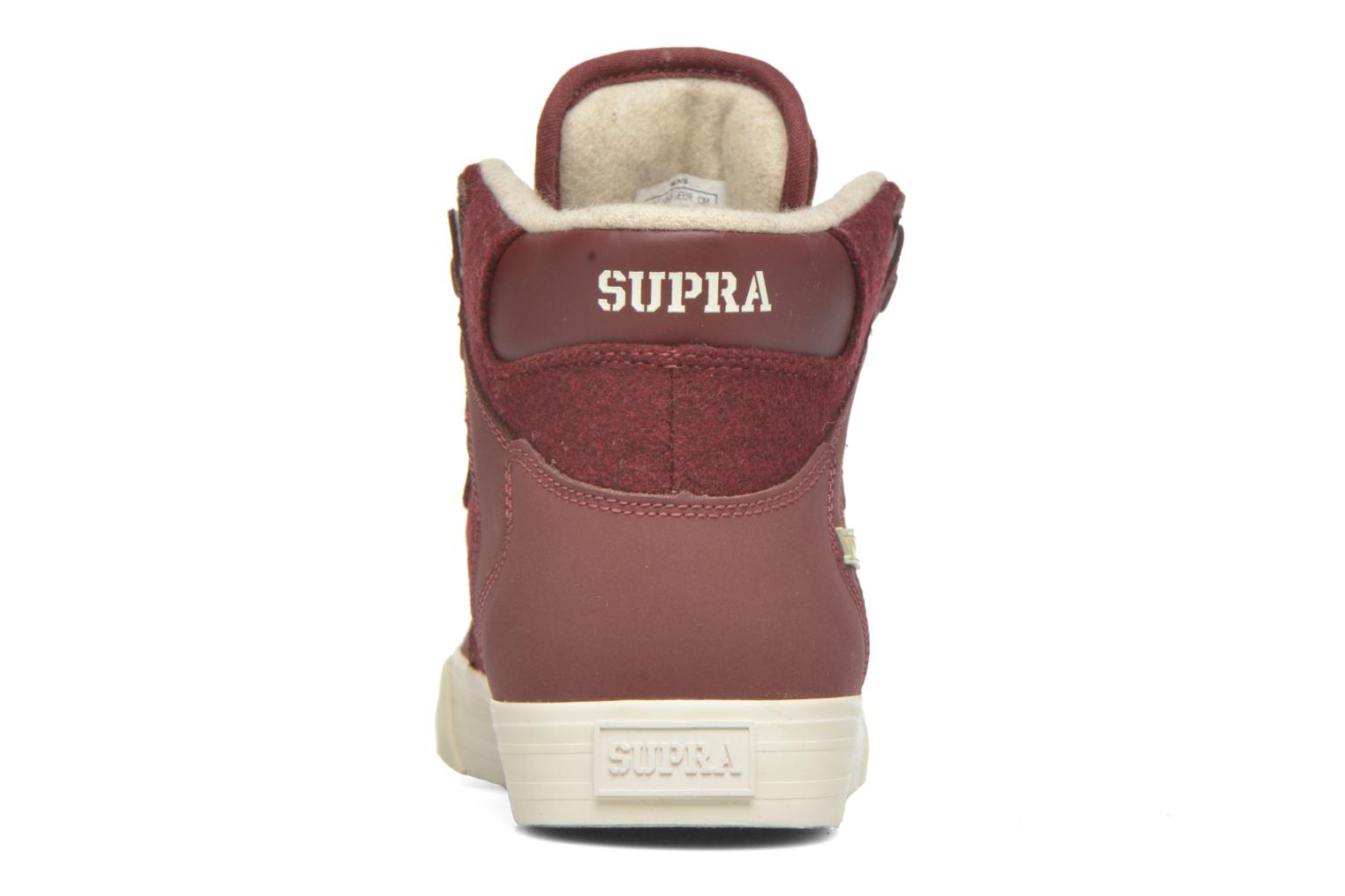 Trainers Supra Vaider Burgundy view from the right