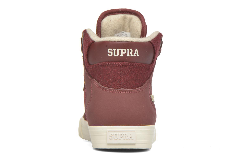 Sneakers Supra Vaider Bordeaux rechts