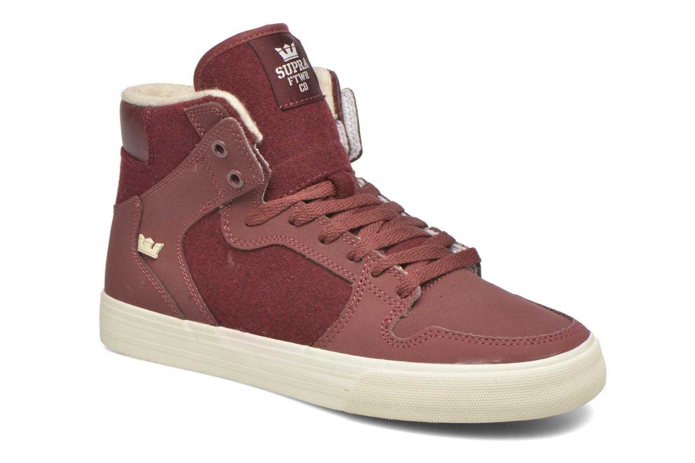 Sneakers Supra Vaider Bordeaux detail