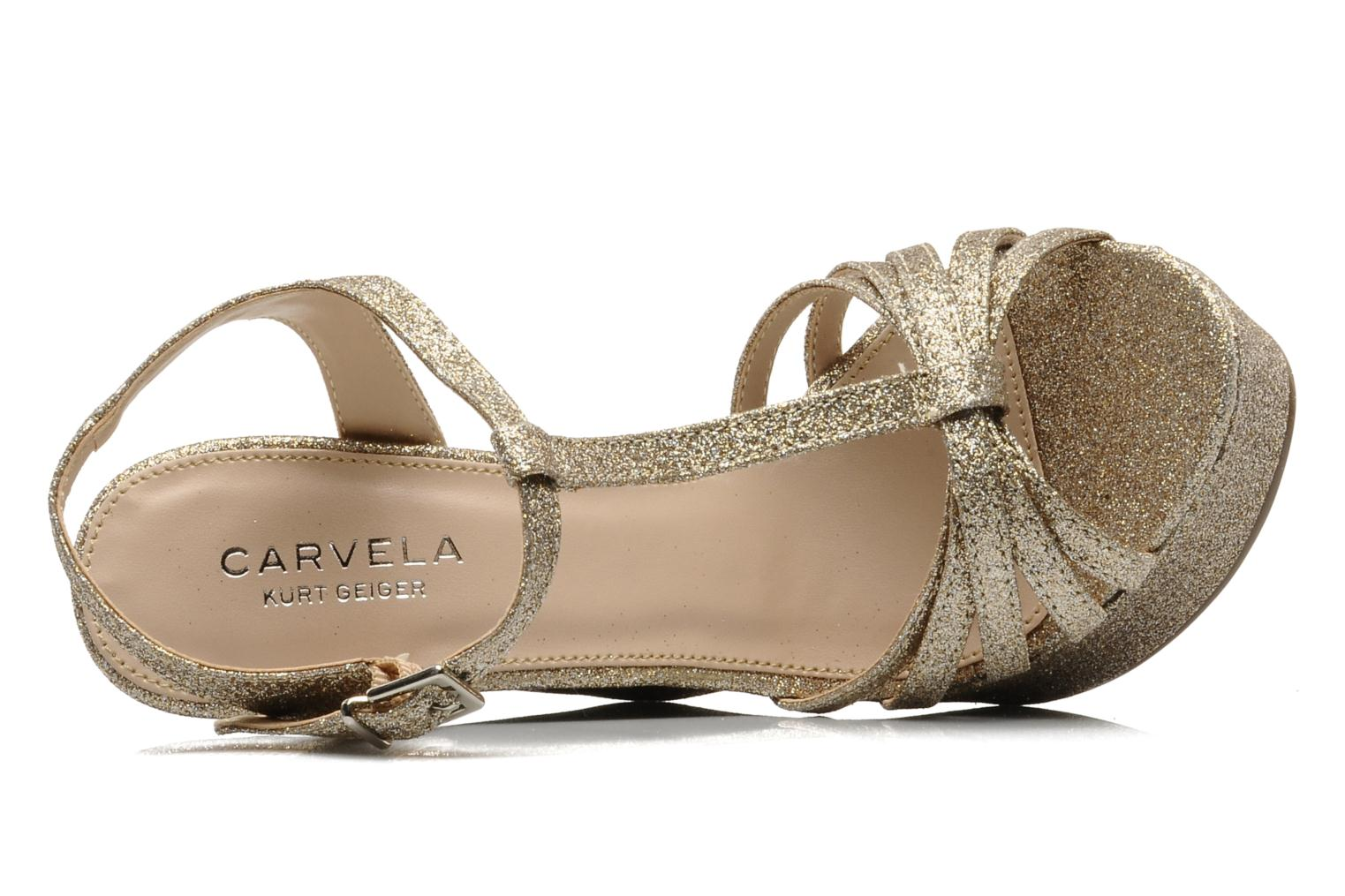 Sandals Carvela GLOWORM Beige view from the left