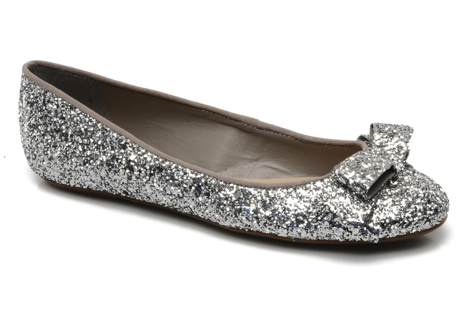 Carvela Lolly Silver Ballet Pumps Chez Sarenza 83819