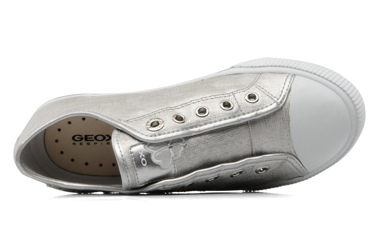 Trainers Geox J ciak G.T Silver view from the left
