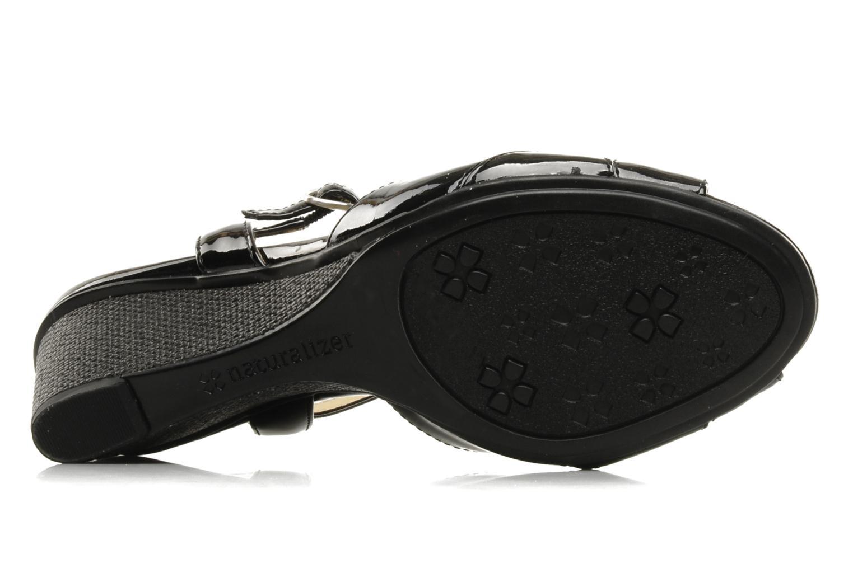 Sandales et nu-pieds Naturalizer Holt Noir vue haut