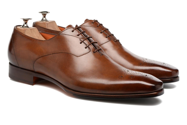 Chaussures à lacets Santoni Boris 10039 Marron vue 3/4