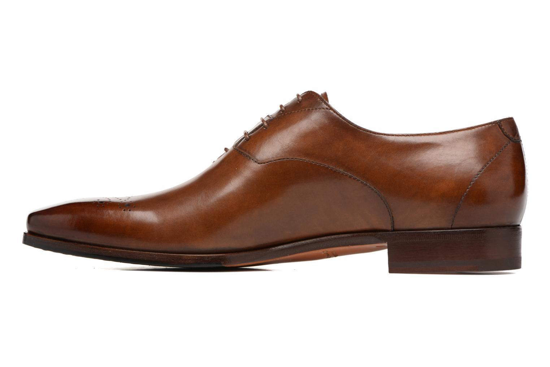 Chaussures à lacets Santoni Boris 10039 Marron vue face