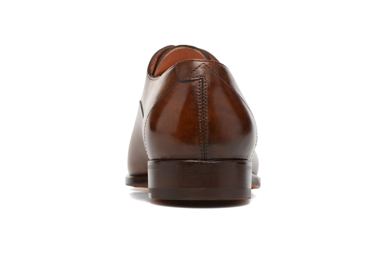 Chaussures à lacets Santoni Boris 10039 Marron vue droite