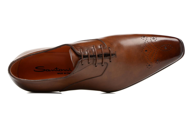 Chaussures à lacets Santoni Boris 10039 Marron vue gauche
