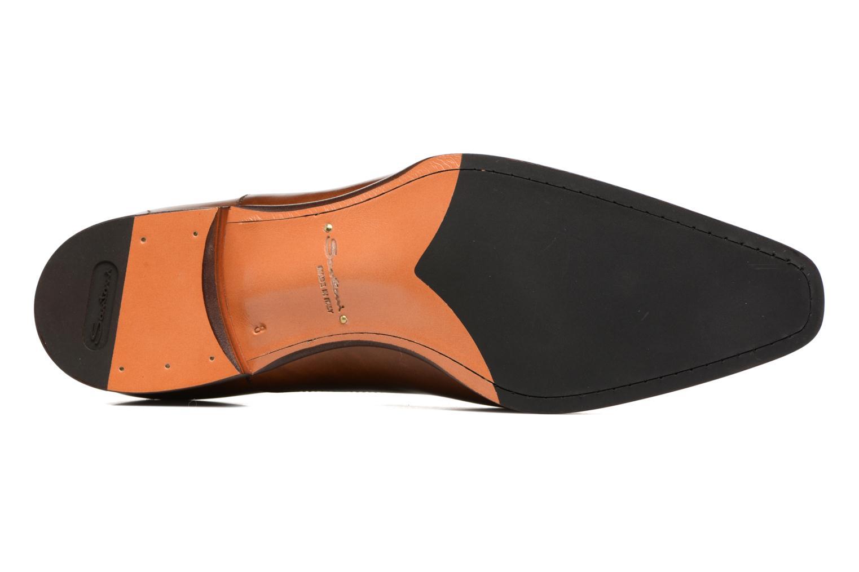 Chaussures à lacets Santoni Boris 10039 Marron vue haut
