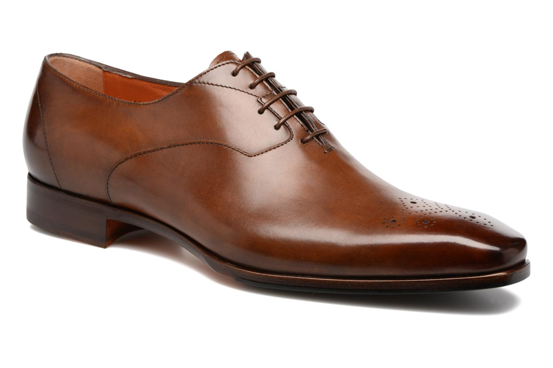 Chaussures à lacets Santoni Boris 10039 Marron vue détail/paire