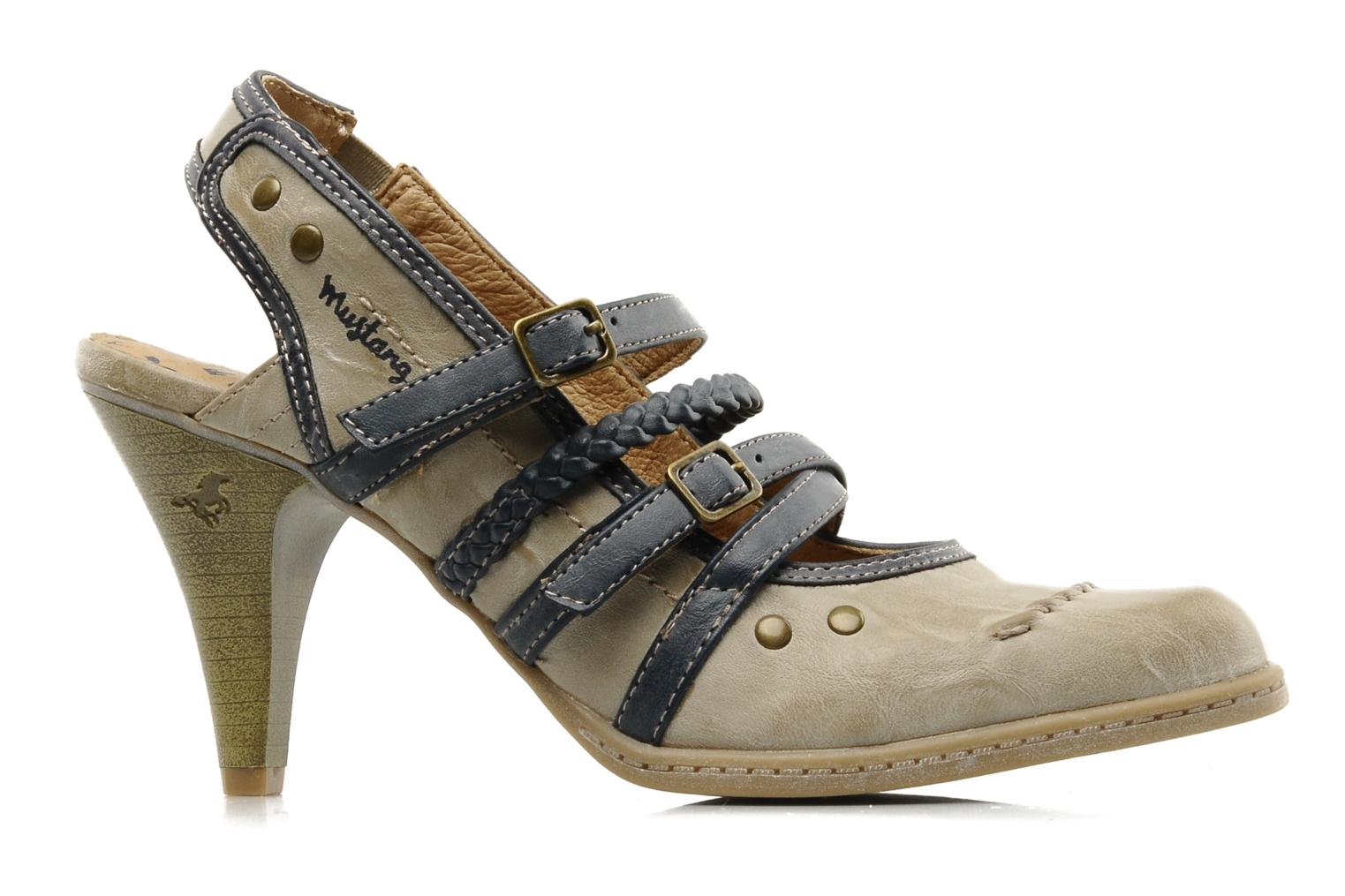 High heels Mustang shoes Myeline Beige back view