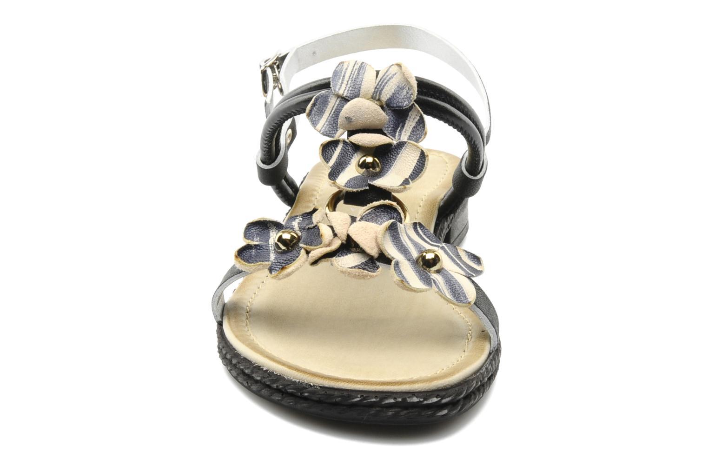 Sandalen Mustang shoes Maline schwarz schuhe getragen