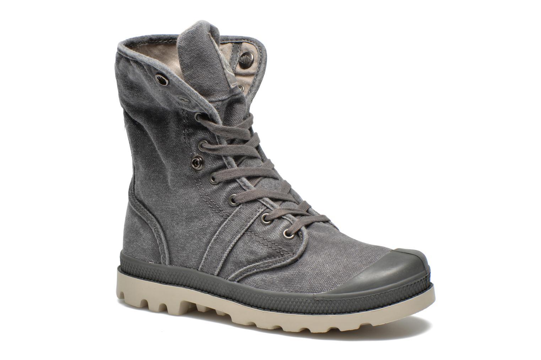 Bottines et boots Palladium Baggy kid Gris vue 3/4