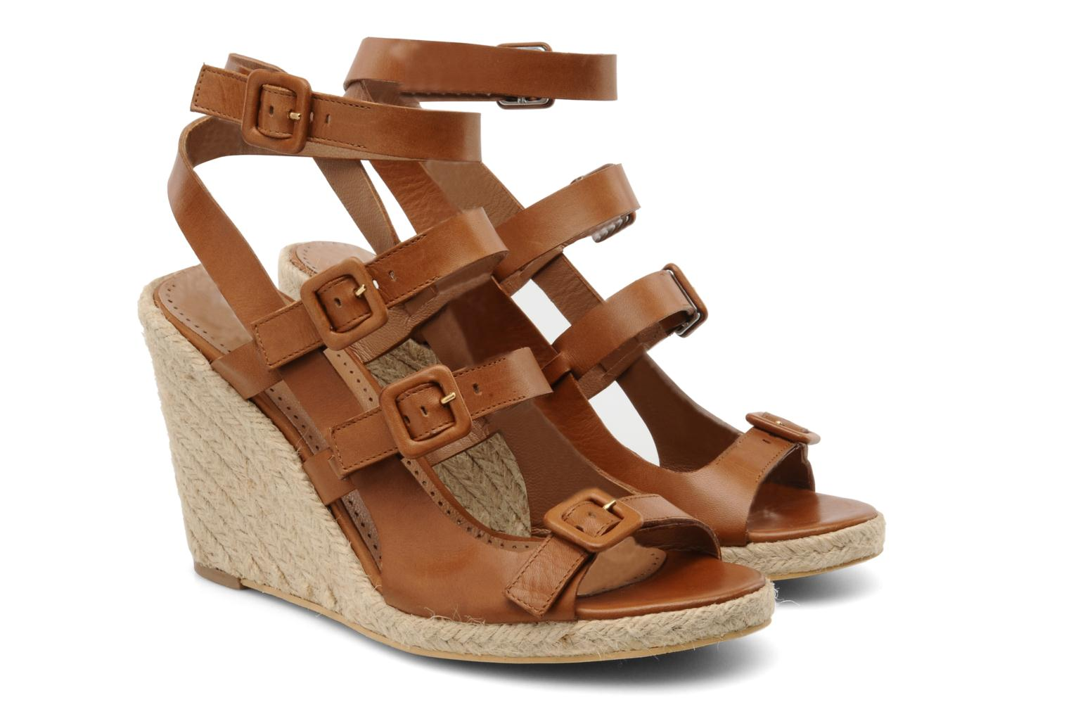 Sandalias Moschino Cheap & Chic Cevil Marrón vista 3/4