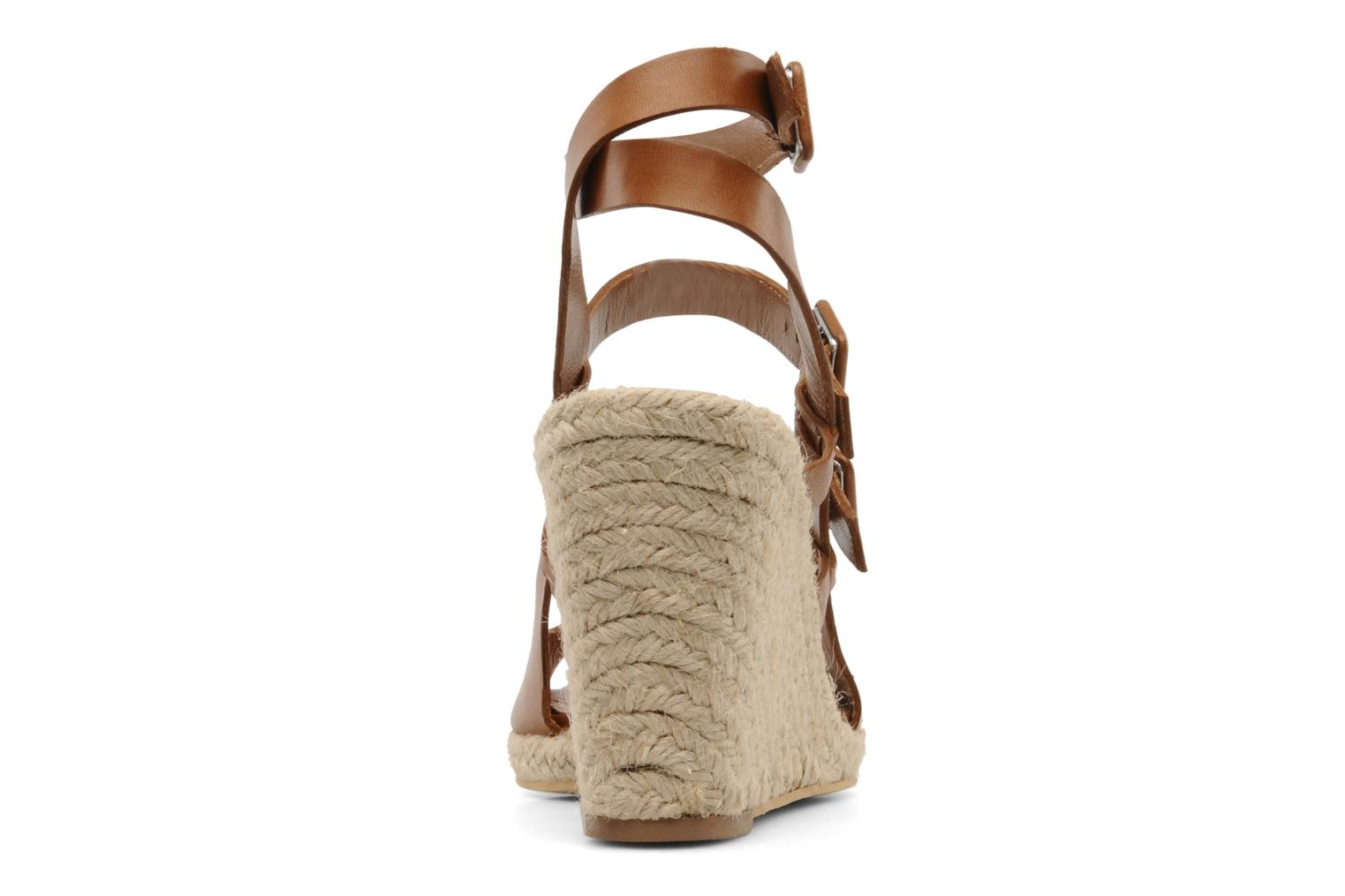 Sandalias Moschino Cheap & Chic Cevil Marrón vista lateral derecha