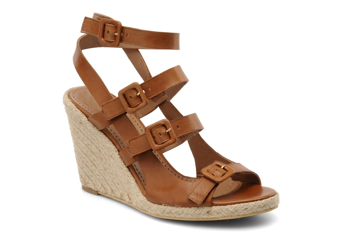 Sandals Moschino Cheap & Chic Cevil Brown detailed view/ Pair view