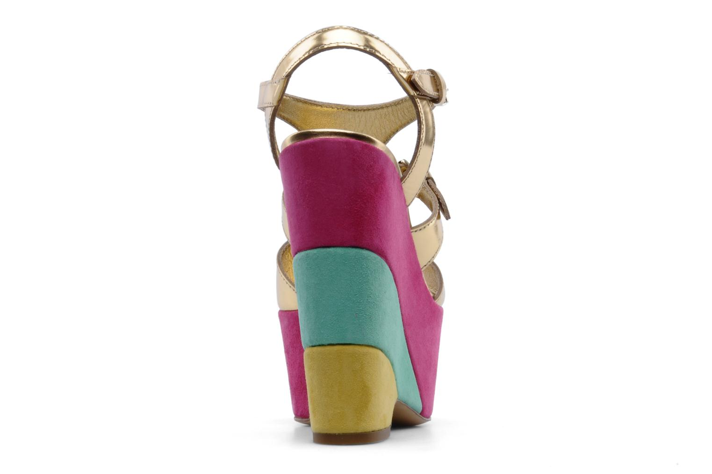 Sandalias Moschino Cheap & Chic Cepale Multicolor vista lateral derecha