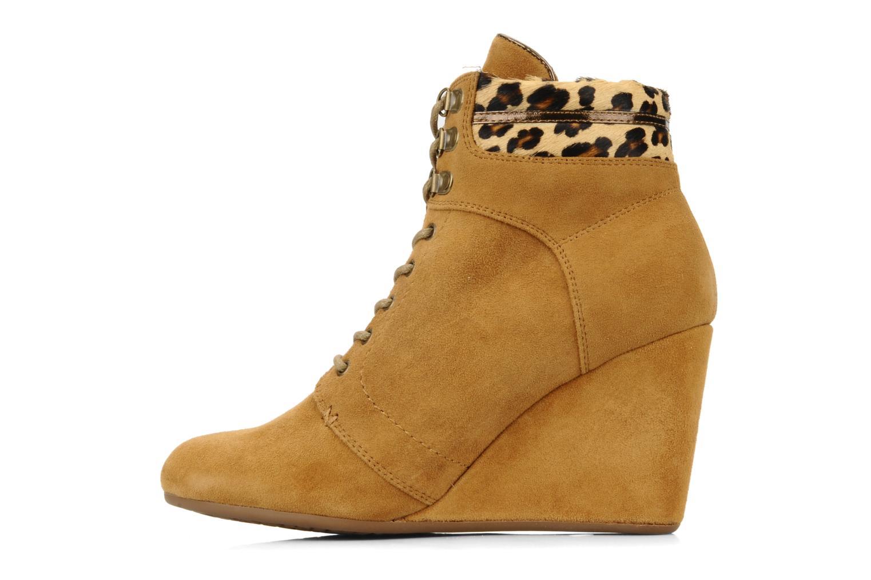 Boots en enkellaarsjes No Name Diva Treck Beige voorkant