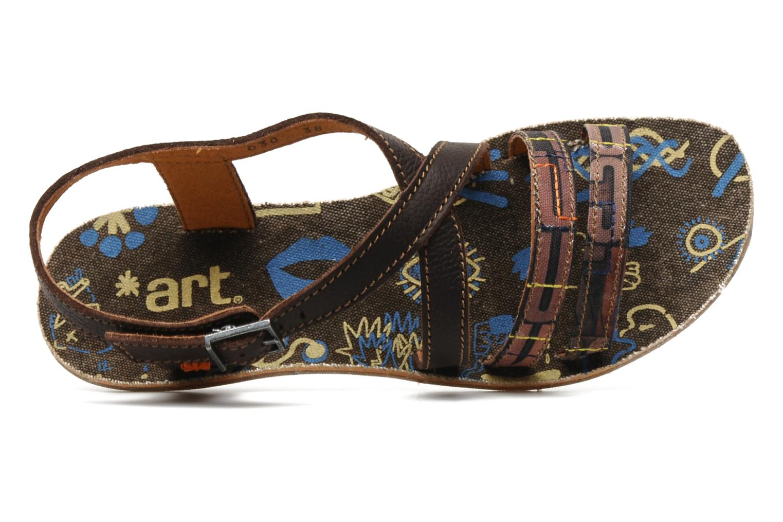 Sandales et nu-pieds Art Zurich 030 Marron vue gauche