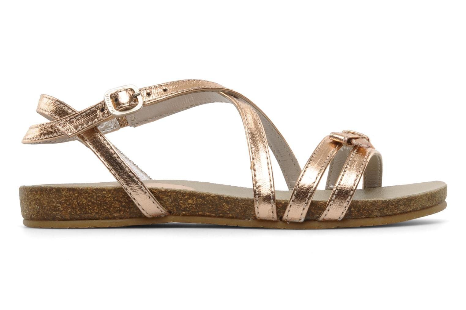 Sandals Unisa Matty Bronze and Gold back view