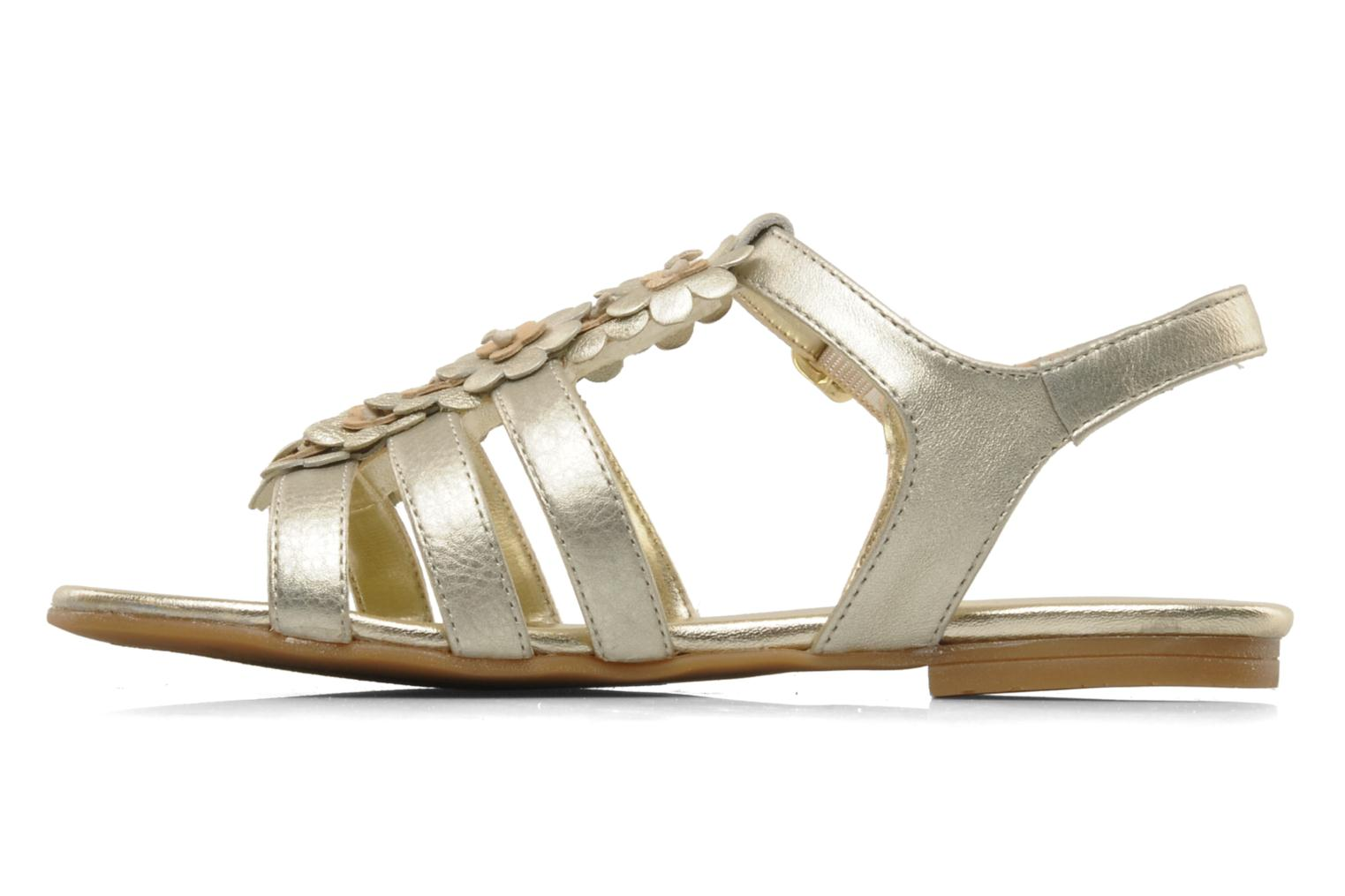 Sandals Unisa Lizzi Bronze and Gold front view