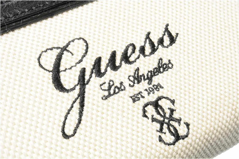 Portemonnaies & Clutches Guess Shanie Large ZipAround schwarz ansicht von links