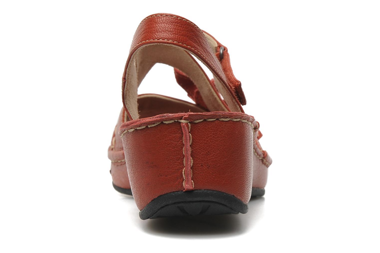 Sandales et nu-pieds TBS Boreal Rouge vue droite