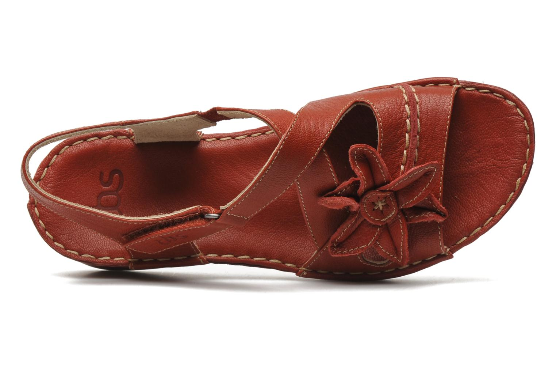 Sandales et nu-pieds TBS Boreal Rouge vue gauche
