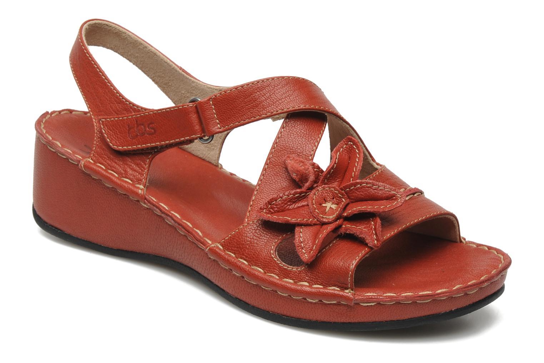 Sandales et nu-pieds TBS Boreal Rouge vue détail/paire