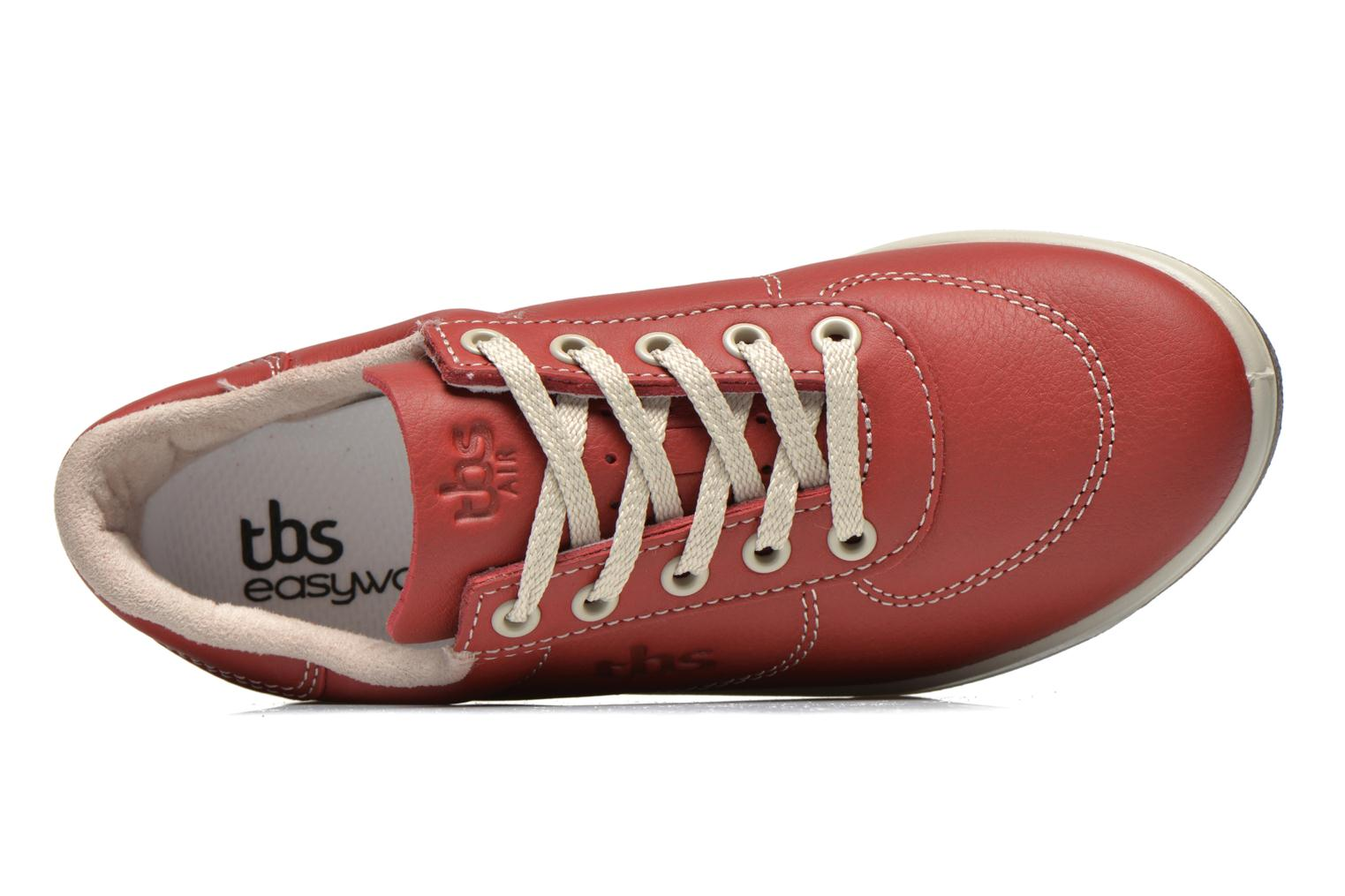 Trainers TBS Easy Walk Brandy Burgundy view from the left